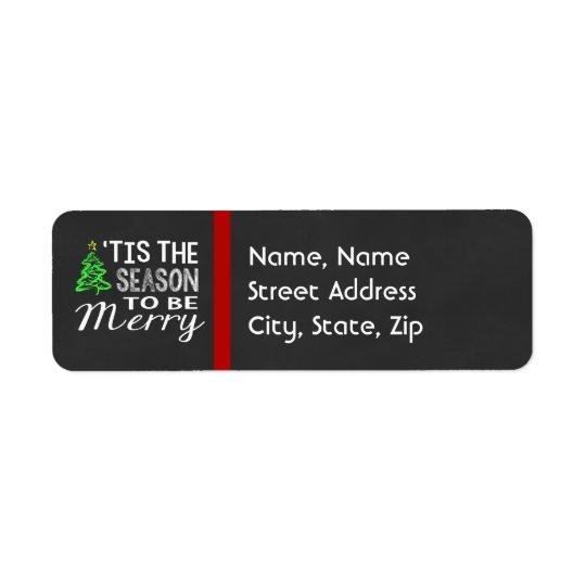 Chalkboard Christmas Address Label