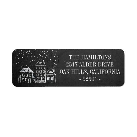 Chalkboard Christmas Houses Personalized Address
