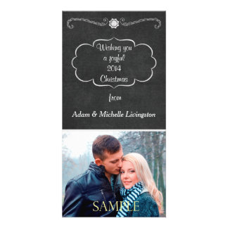 Chalkboard Christmas Personalized Photo Card