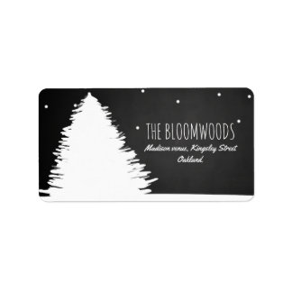 Chalkboard Christmas Tree | Winter Holiday Label