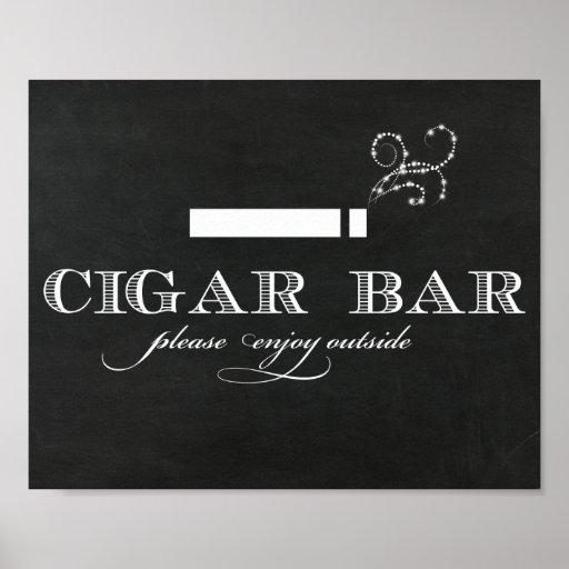 Chalkboard Cigar Bar Sign