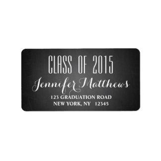 Chalkboard Class of 2015 Graduation Address Label