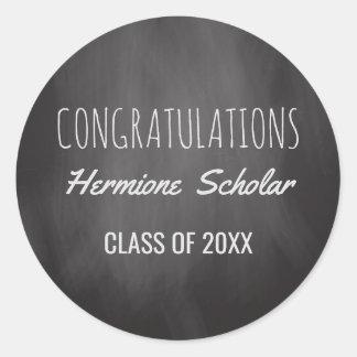 Chalkboard Class of Graduation | Congratulations Classic Round Sticker