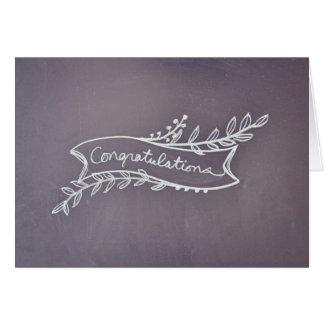 Chalkboard Congratulations Card