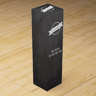 Chalkboard Congratulations Gift Wine Box