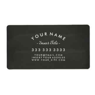 Chalkboard Curved Text Professional Business Shipping Label