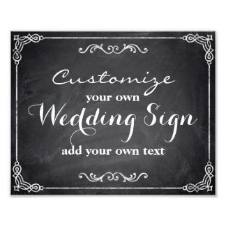Chalkboard - Customize your own wedding sign -