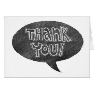 Chalkboard Design Thank You Card