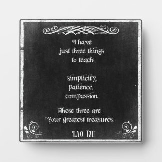 Chalkboard Design with Lao Tzu Inspirational Quote Photo Plaque