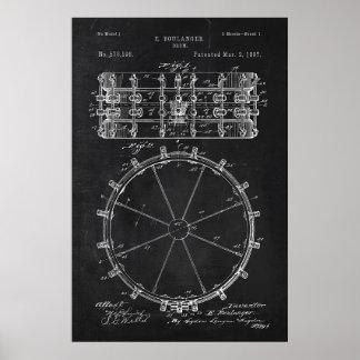 Chalkboard Drum Patent Poster