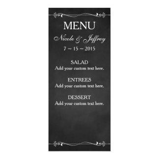 "Chalkboard Eat Drink and be Married Wedding Menu 4"" X 9.25"" Invitation Card"