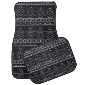 Chalkboard Effect Aztec Tribal Stripes Car Mat
