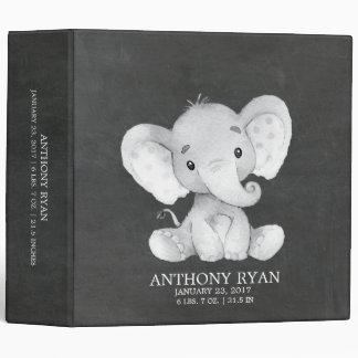 Chalkboard Elephant Shower Baby Photo Album Vinyl Binder