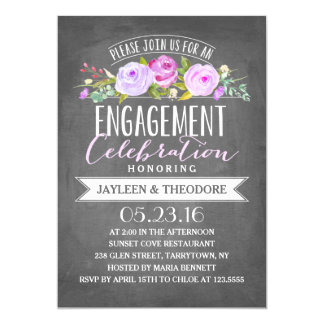 Chalkboard Engagement | Engagement Party Card