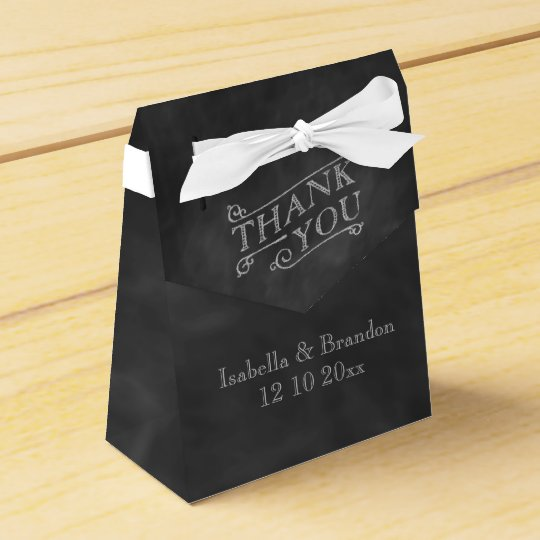 Chalkboard Favour Box Party Favor Boxes
