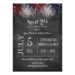 Chalkboard Fireworks 4th of July Party Invitation