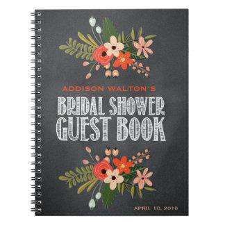 Chalkboard Floral Bridal Shower Guest Book