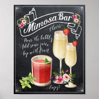 chalkboard floral Mimosa Bar Wedding shower Sign