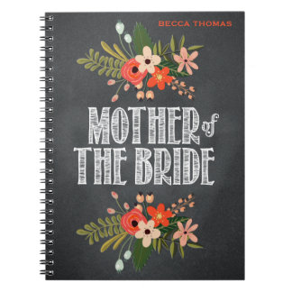 Chalkboard Floral Mother of the Bride Notebooks