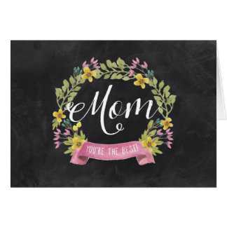 Chalkboard Florals | Mother's Day Card