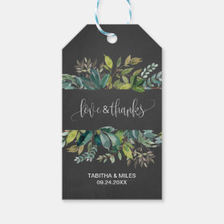 Chalkboard Foliage Love & Thanks Gift Tags