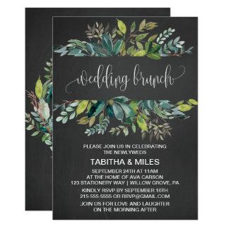 Chalkboard Foliage Wedding Brunch Card