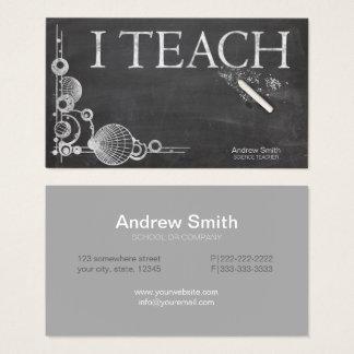 Chalkboard Formal 'I Teach' Business Card