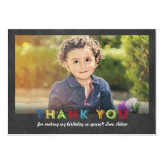 Chalkboard Fun Thank You Photo Card