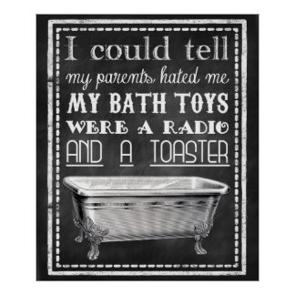 Bathroom Posters  Zazzle Canada