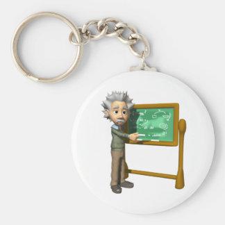 Chalkboard Genius Basic Round Button Keychain