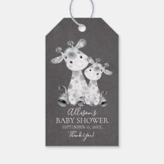 Chalkboard Giraffe  Baby Shower Favor Gift Tag