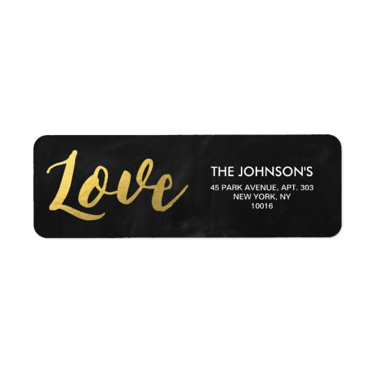 CHALKBOARD GOLD FOIL LOVE