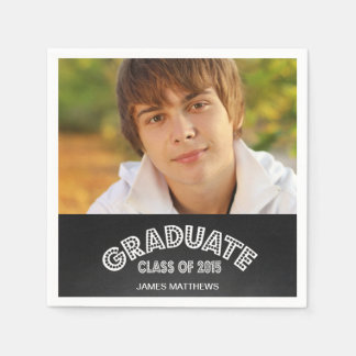 CHALKBOARD GRAD | GRADUATION PARTY PAPER NAPKINS