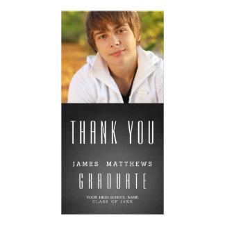 CHALKBOARD GRAD   GRADUATION THANK YOU PHOTO CARD