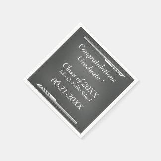 Chalkboard Graduation Paper Napkins