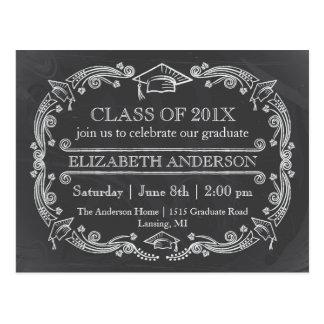 Chalkboard Graduation Party Postcard