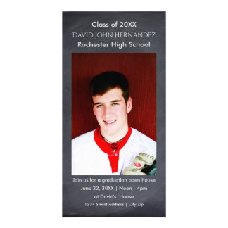 Chalkboard Graduation Photo Card
