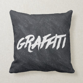 Chalkboard Graffiti Throw Pillow