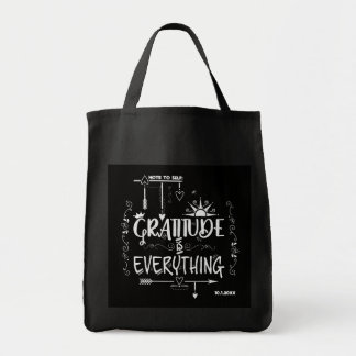 Chalkboard Gratitude is Everything Note to Self Tote Bag
