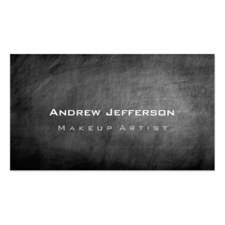 Chalkboard Gray Professional Artist Business Card