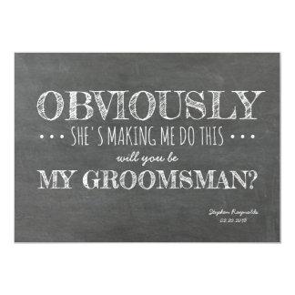 Chalkboard | GROOMSMAN | BEST MAN Funny Proposal Card