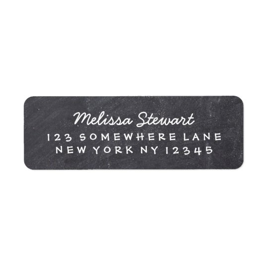 Chalkboard Handwriting Return Address Label