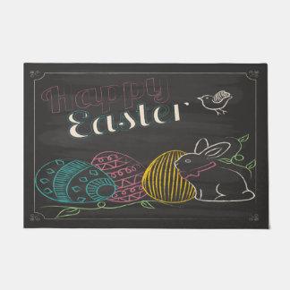 """Chalkboard Happy Easter 24"""" x 36"""" Doormat"""