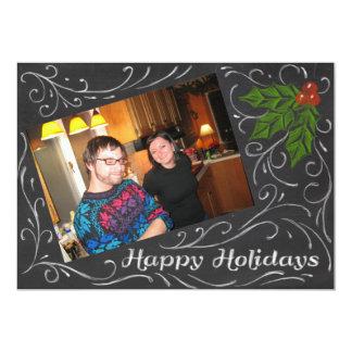 "Chalkboard Happy Holidays 5"" X 7"" Invitation Card"