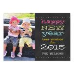 Chalkboard Happy New Year 2015 Holiday Photo Card