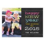 Chalkboard Happy New Year 2015 Holiday Photo Card Invites