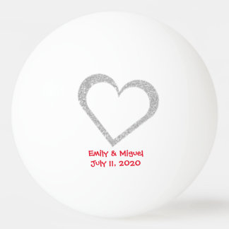 Chalkboard Heart Wedding Favor Ping Pong Ball