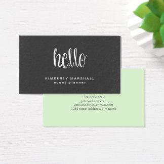 Chalkboard Hello Business Cards / Mint
