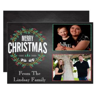 Chalkboard Holiday Greeting Car Card