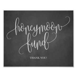 Chalkboard Honeymoon Fund Wedding Sign